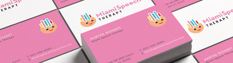 Miami speech therapy business card design